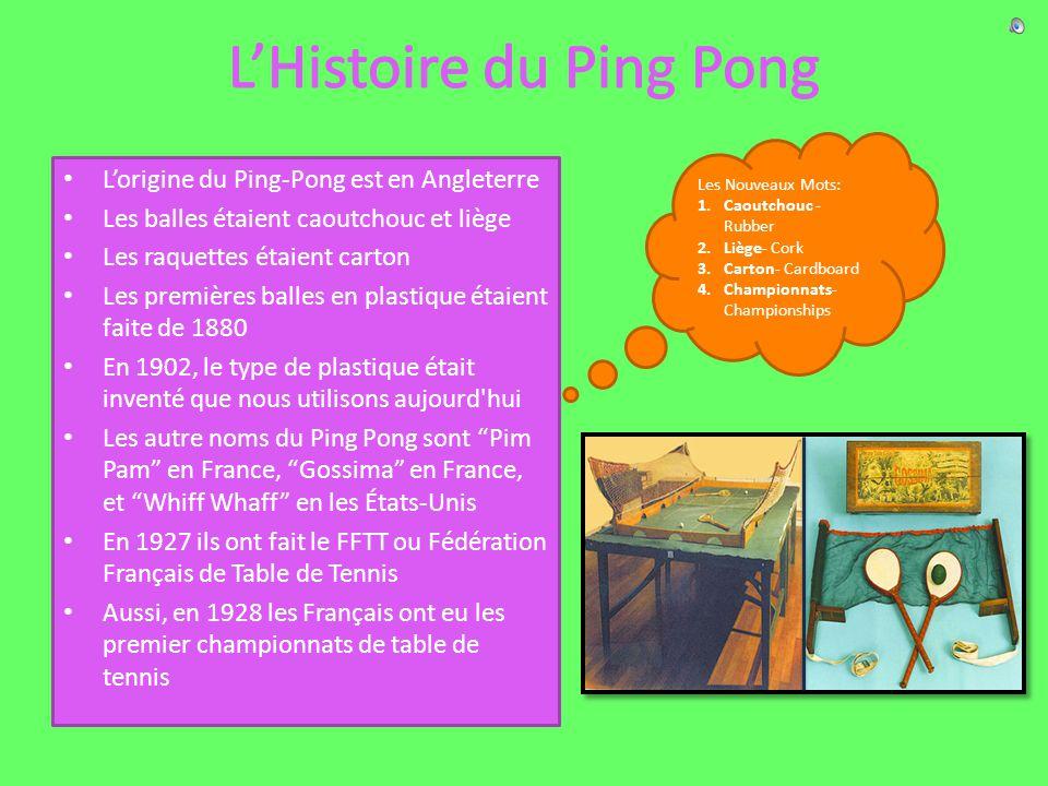 L'Histoire du Ping Pong