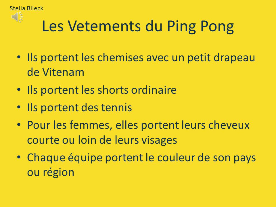Les Vetements du Ping Pong