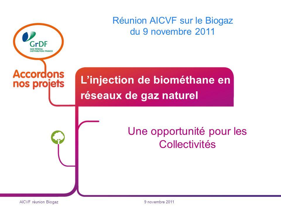 L'injection de biométhane en réseaux de gaz naturel