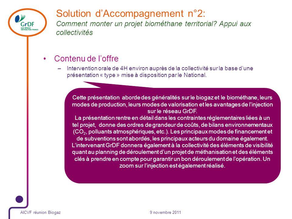 Solution d'Accompagnement n°2: Comment monter un projet biométhane territorial Appui aux collectivités
