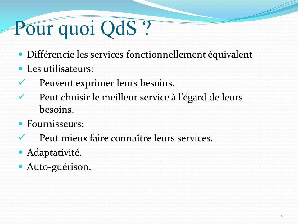 Pour quoi QdS Différencie les services fonctionnellement équivalent