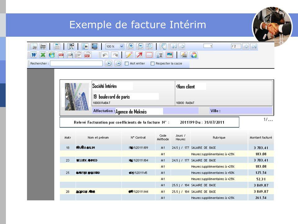Exemple de facture Intérim