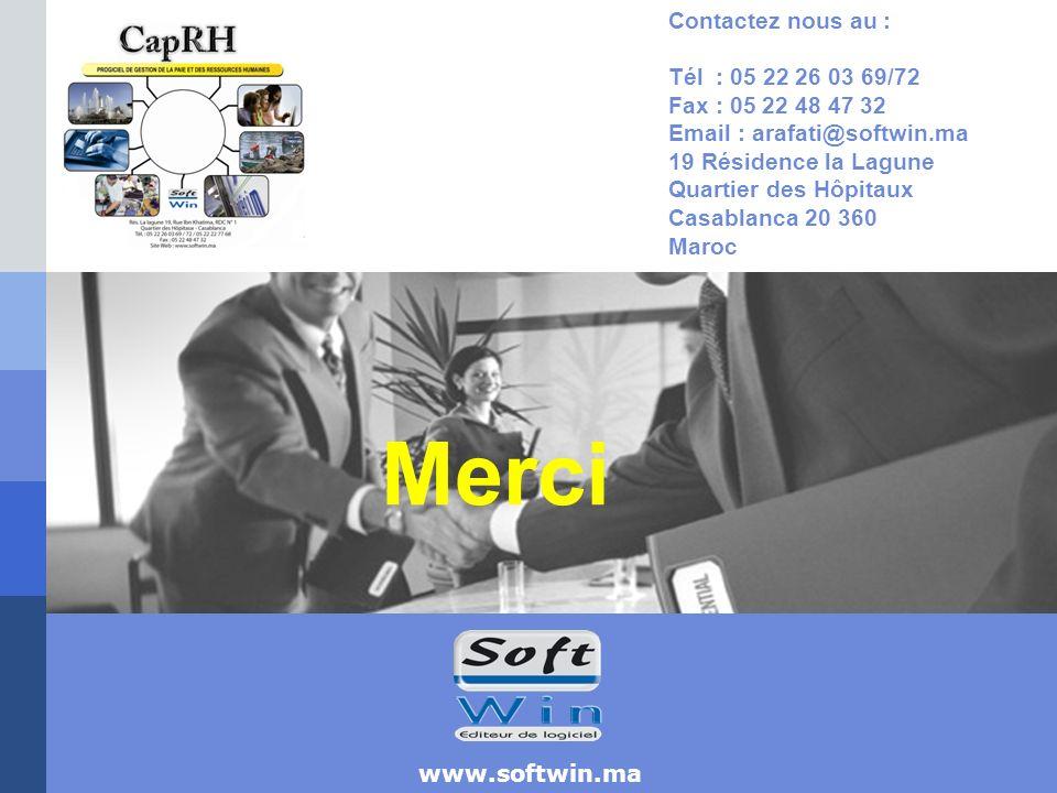 Merci Contactez nous au : Tél : 05 22 26 03 69/72 Fax : 05 22 48 47 32