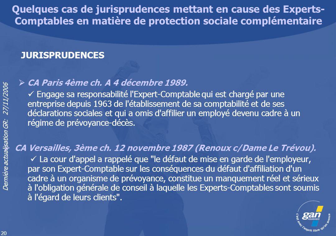 Quelques cas de jurisprudences mettant en cause des Experts-Comptables en matière de protection sociale complémentaire