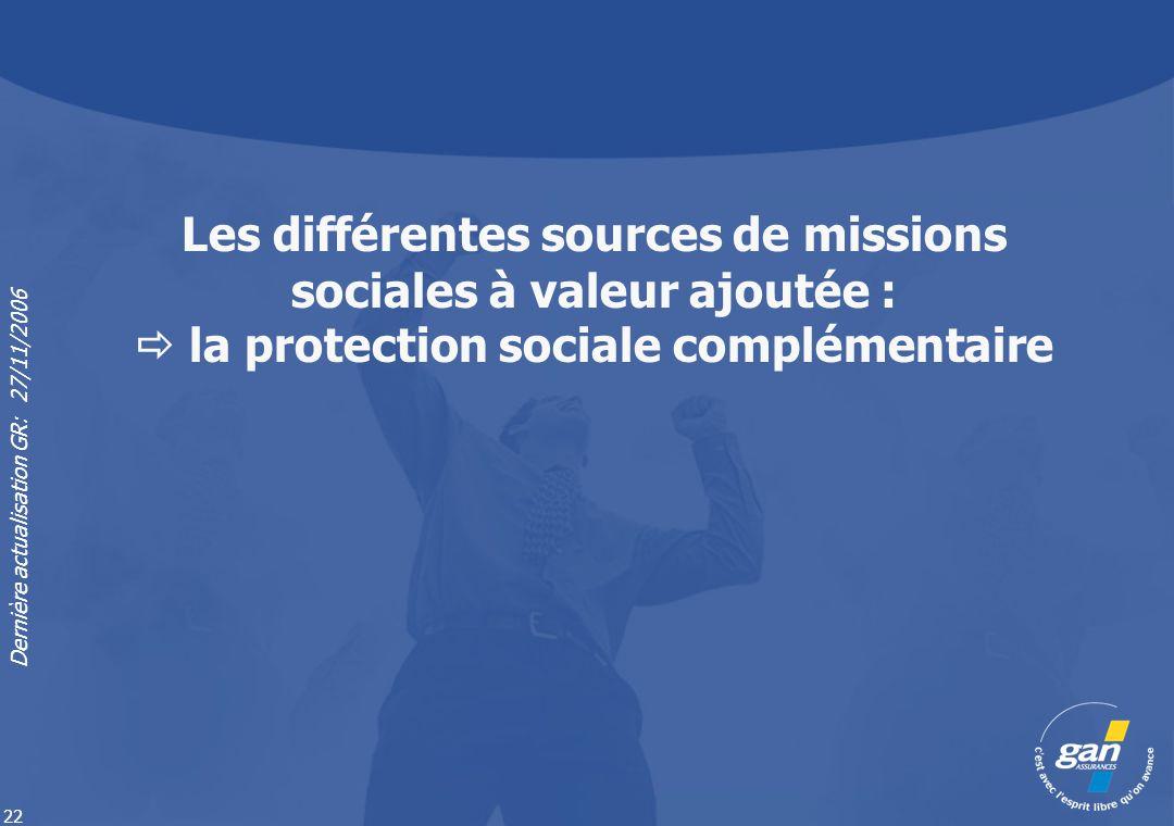 Les différentes sources de missions sociales à valeur ajoutée :  la protection sociale complémentaire