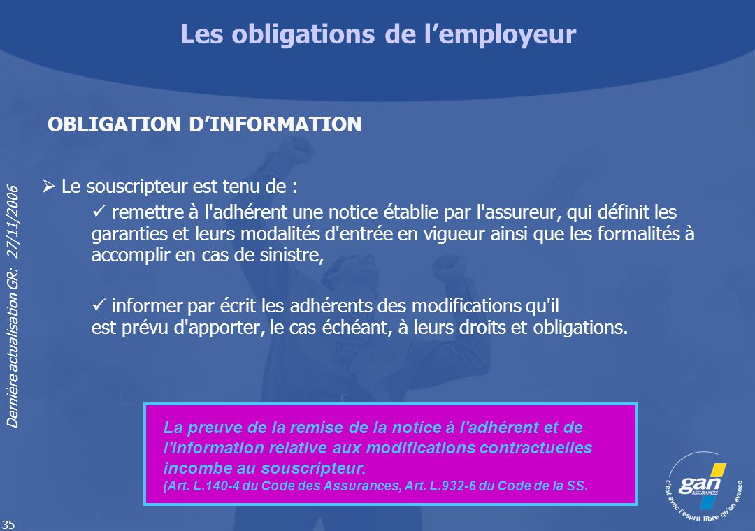 Les obligations de l'employeur