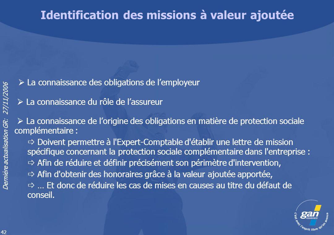 Identification des missions à valeur ajoutée