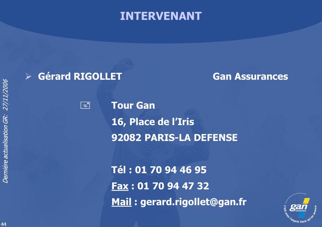 Gérard RIGOLLET Gan Assurances