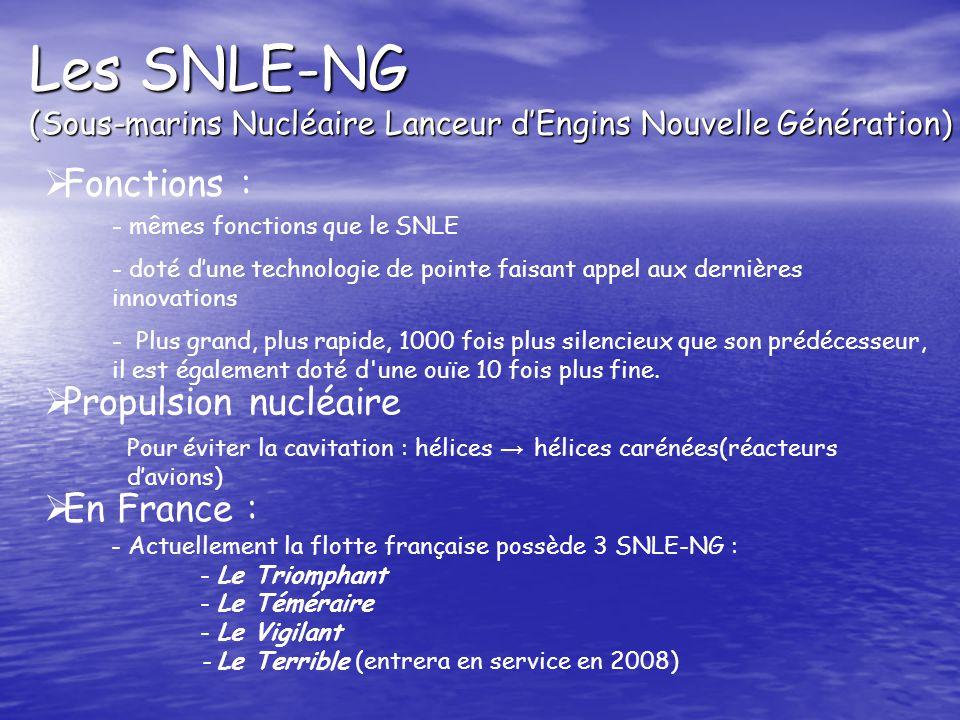 Les SNLE-NG (Sous-marins Nucléaire Lanceur d'Engins Nouvelle Génération)