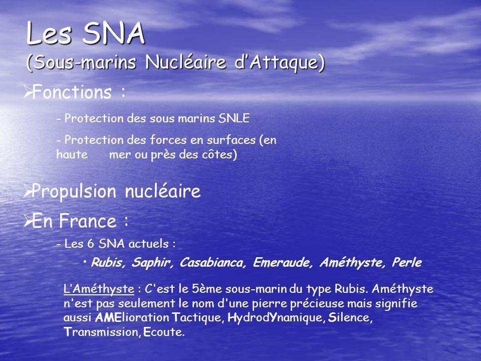 Les SNA (Sous-marins Nucléaire d'Attaque)