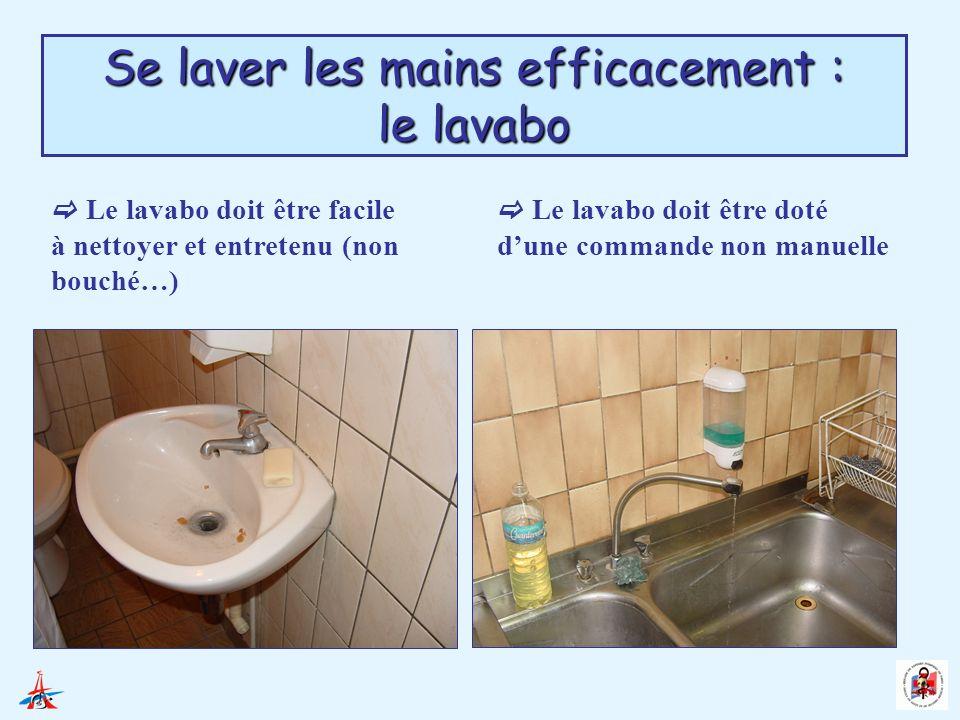 Se laver les mains efficacement : le lavabo