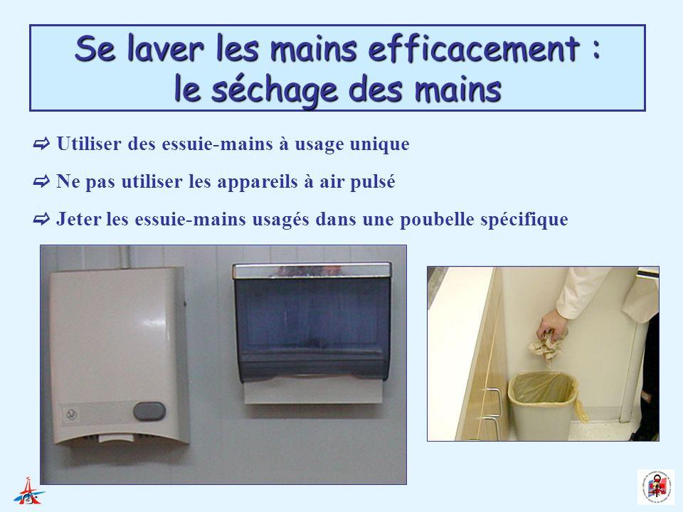 Se laver les mains efficacement : le séchage des mains