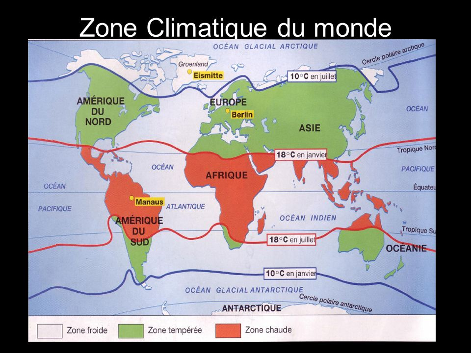 Zone Climatique du monde