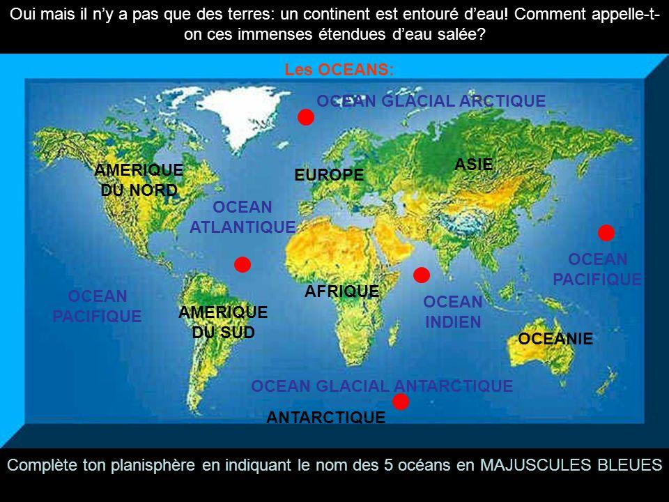 OCEAN GLACIAL ARCTIQUE OCEAN GLACIAL ANTARCTIQUE