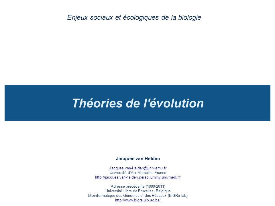 Théories de l évolution