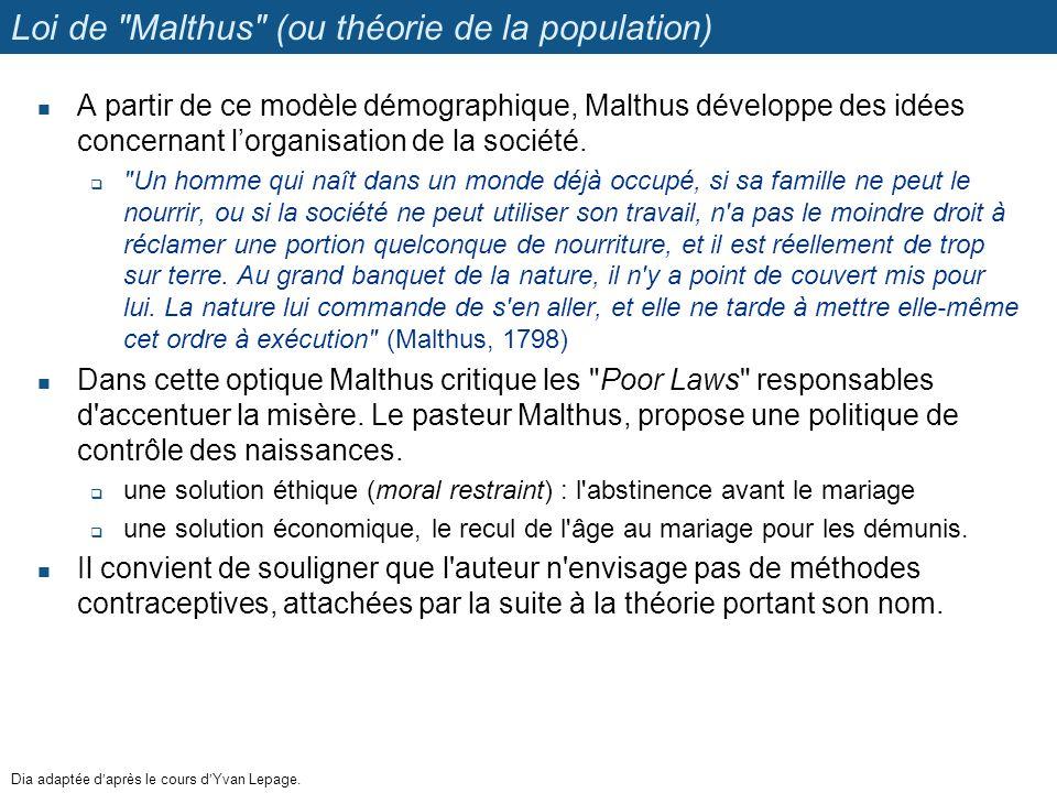 Loi de Malthus (ou théorie de la population)