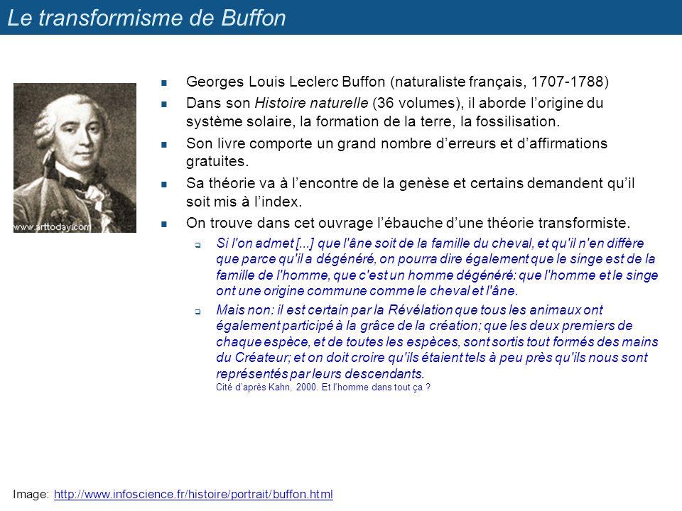 Le transformisme de Buffon