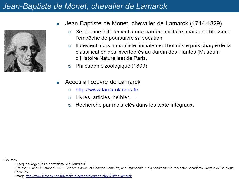 Jean-Baptiste de Monet, chevalier de Lamarck