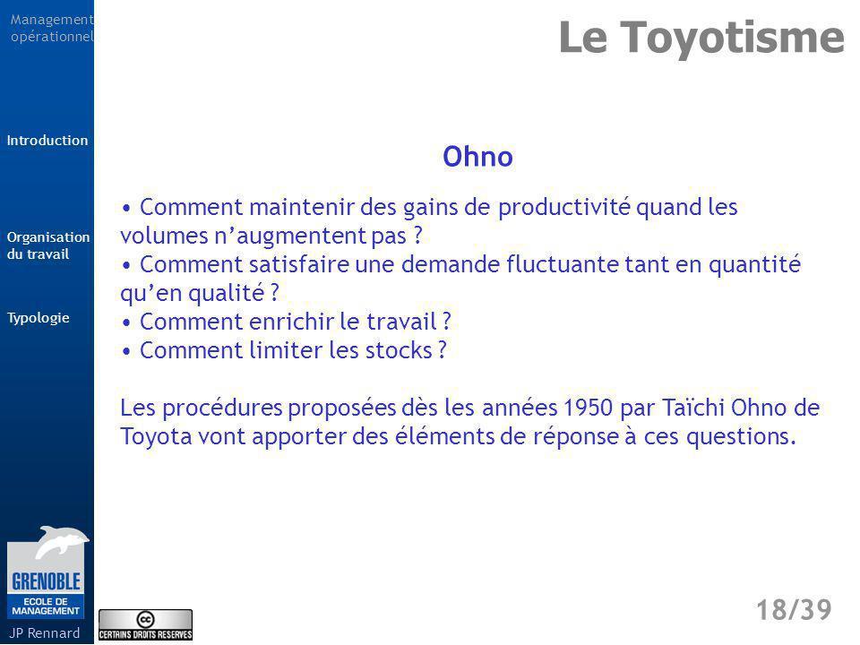 Le Toyotisme Ohno. Comment maintenir des gains de productivité quand les volumes n'augmentent pas