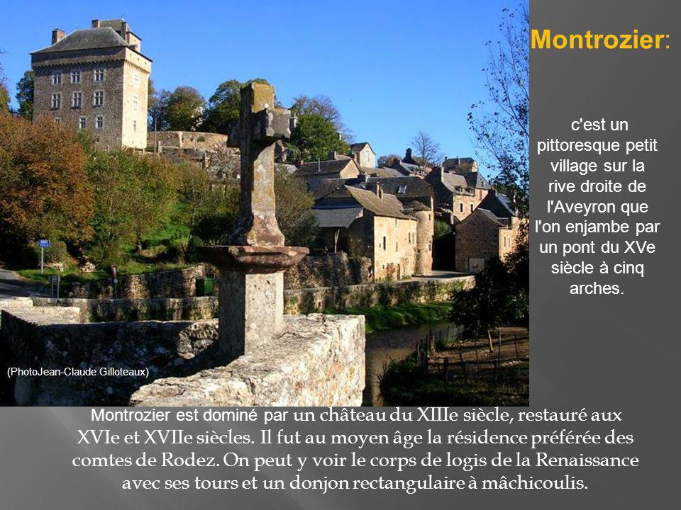 Montrozier: c est un pittoresque petit village sur la rive droite de l Aveyron que l on enjambe par un pont du XVe siècle à cinq arches.