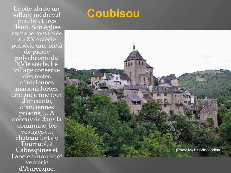 Le site abrite un village médiéval perché et très fleuri