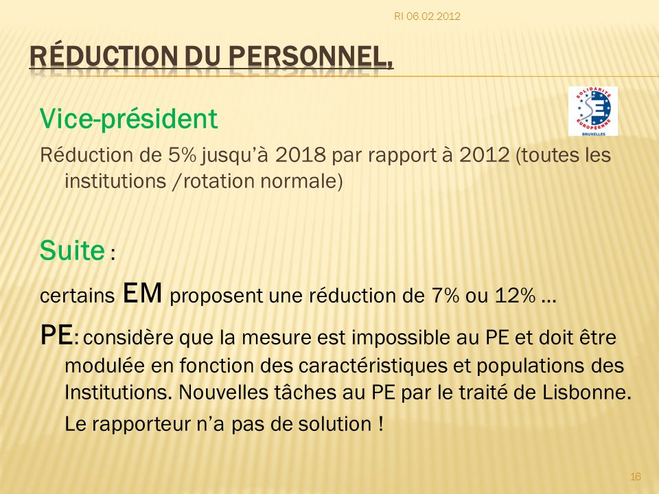 Réduction du personnel,