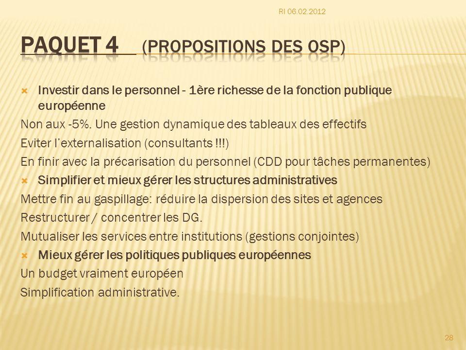 Paquet 4 (propositions des OSP)