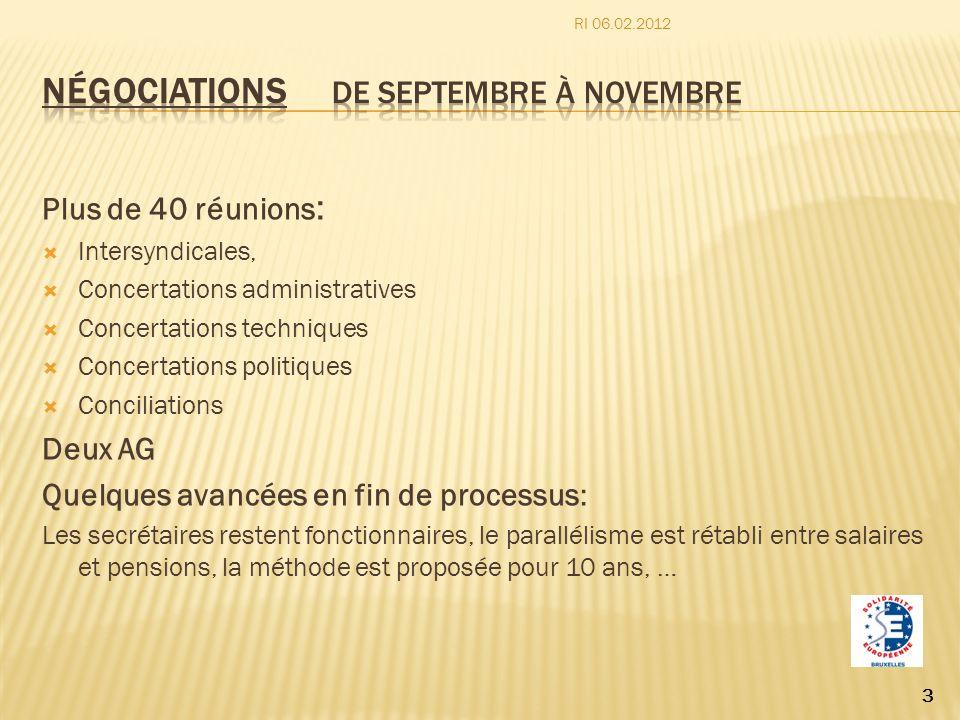 Négociations de septembre à novembre