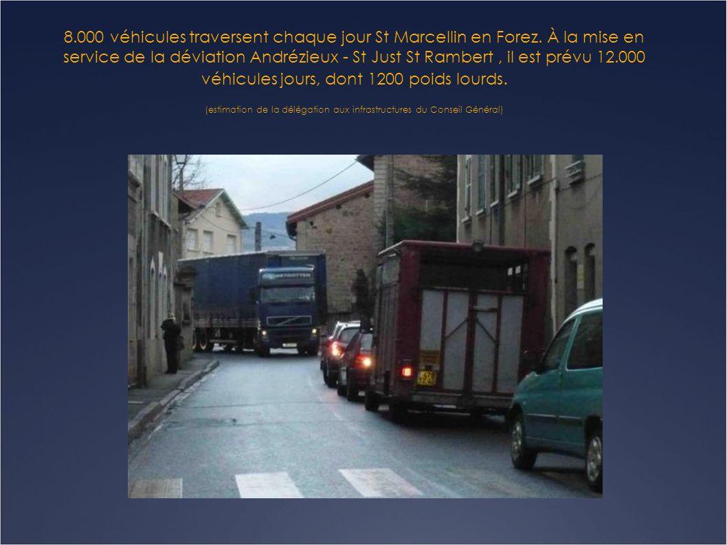 8. 000 véhicules traversent chaque jour St Marcellin en Forez