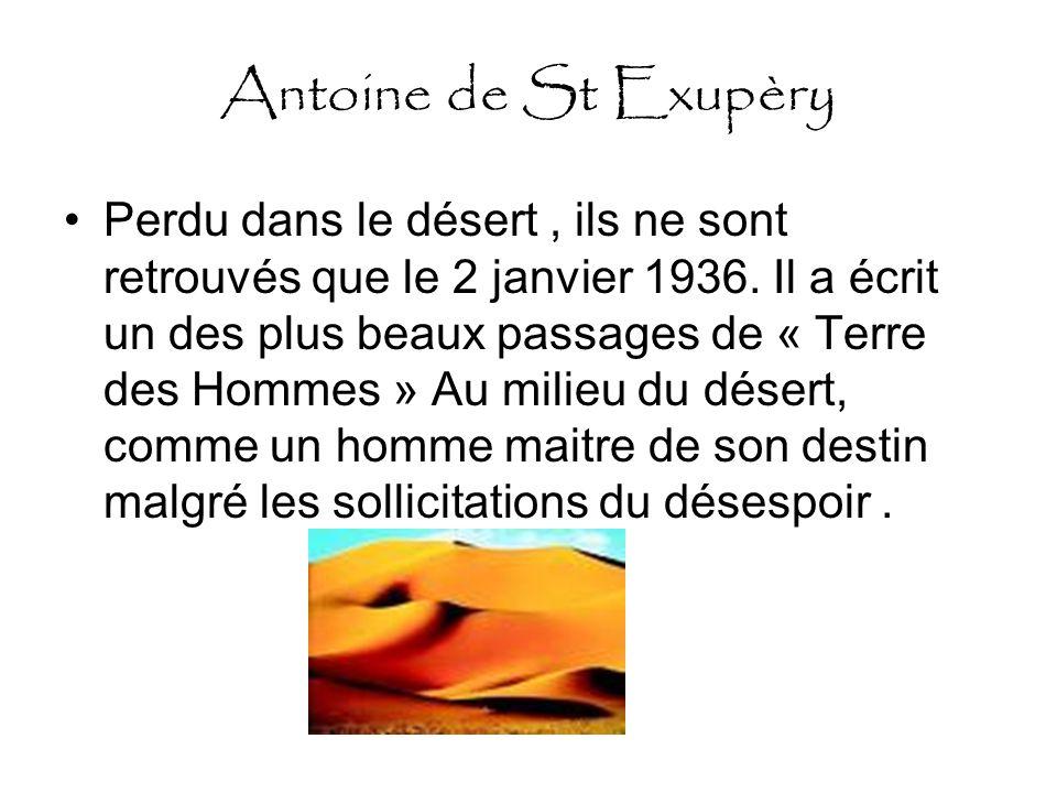 Antoine de St Exupèry