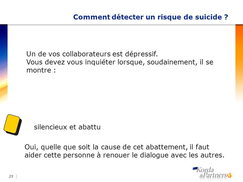 Comment détecter un risque de suicide