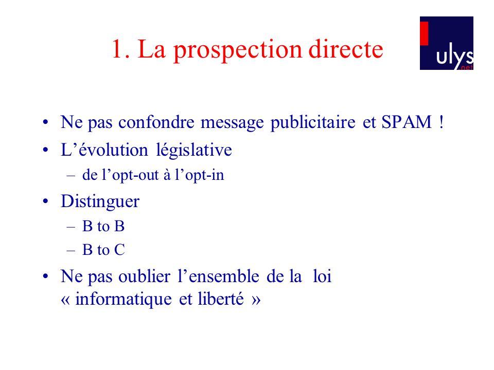 1. La prospection directe