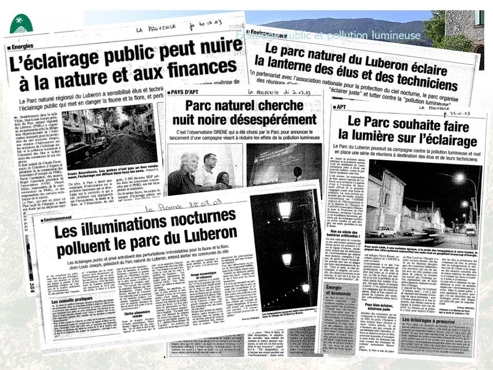 Eclairage public et pollution lumineuse