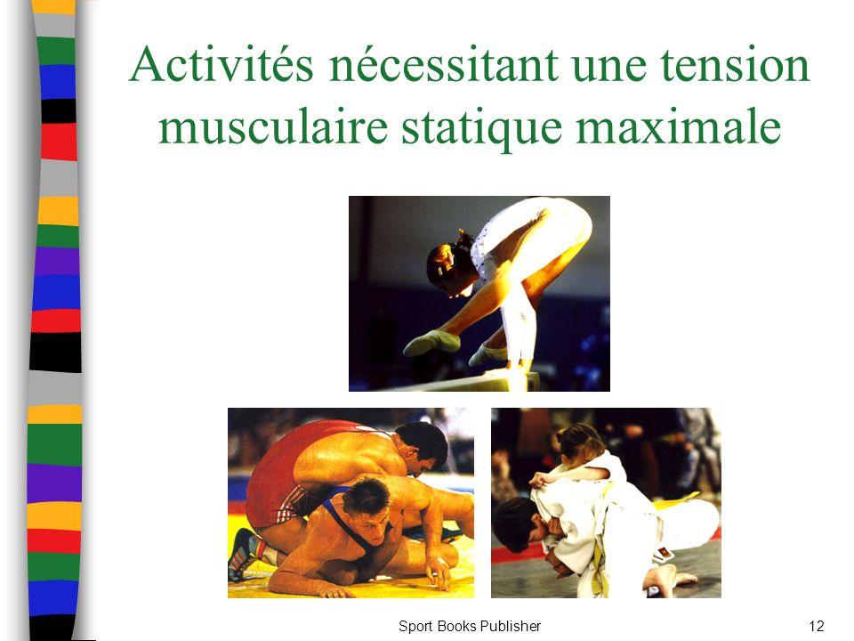 Activités nécessitant une tension musculaire statique maximale