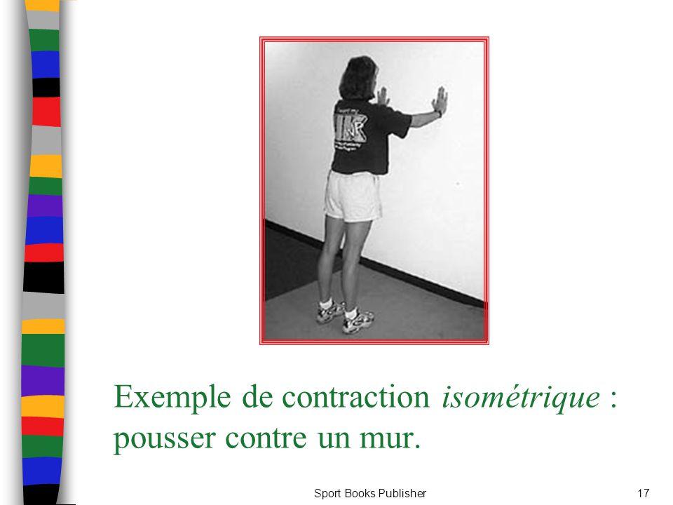 Exemple de contraction isométrique : pousser contre un mur.