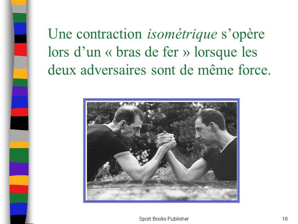 Une contraction isométrique s'opère lors d'un « bras de fer » lorsque les deux adversaires sont de même force.