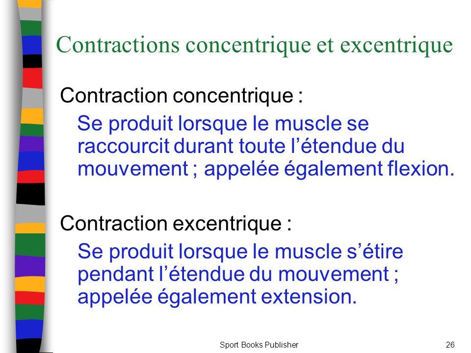 Contractions concentrique et excentrique
