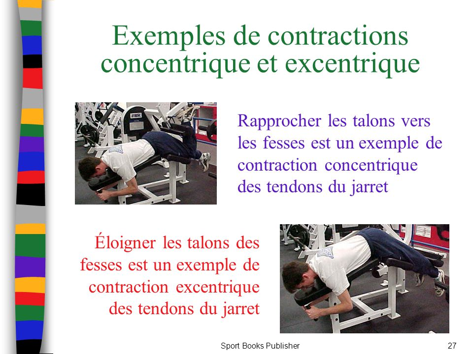 Exemples de contractions concentrique et excentrique