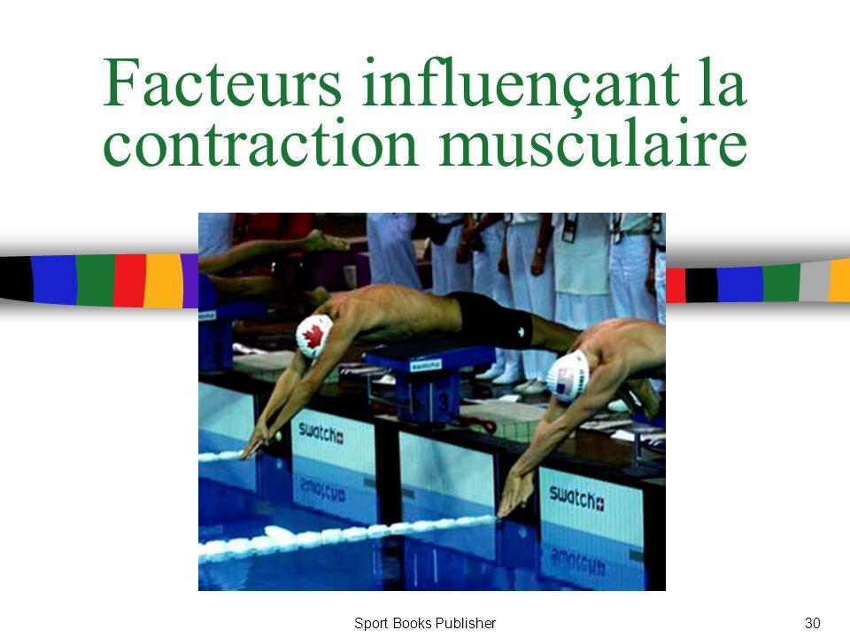 Facteurs influençant la contraction musculaire