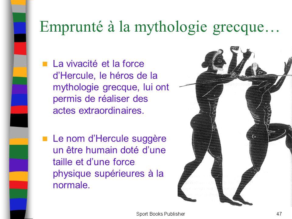 Emprunté à la mythologie grecque…