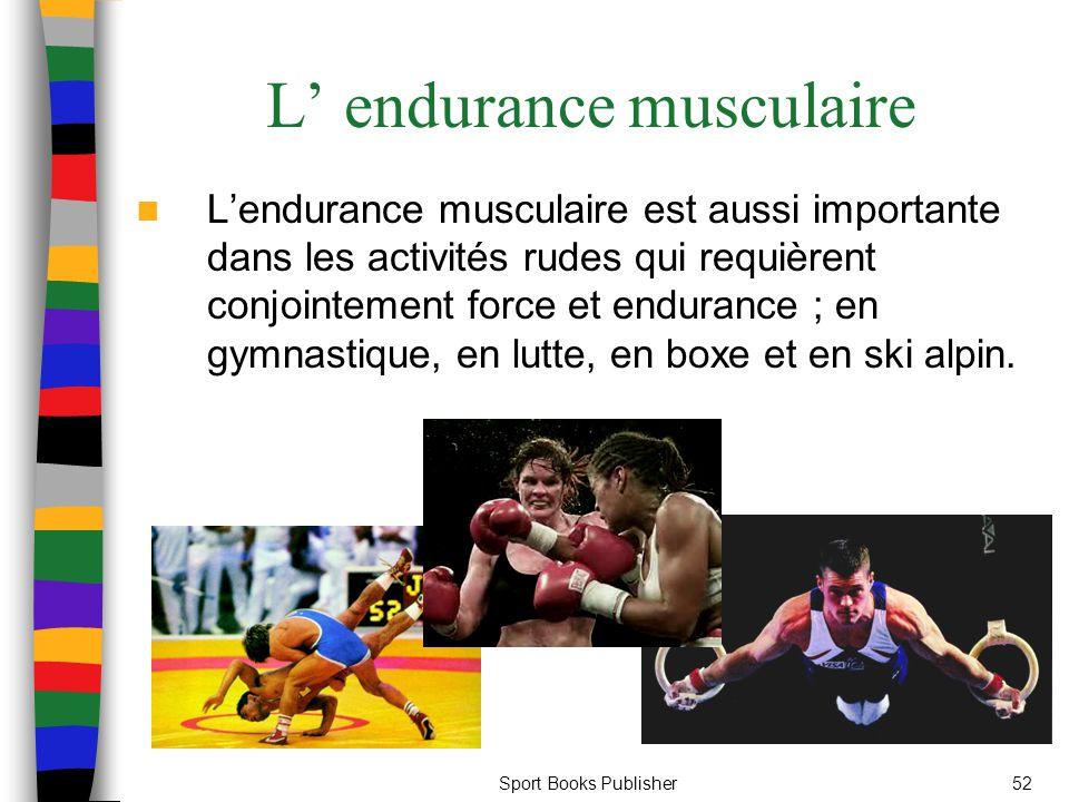 L' endurance musculaire