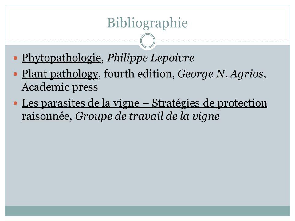 Bibliographie Phytopathologie, Philippe Lepoivre