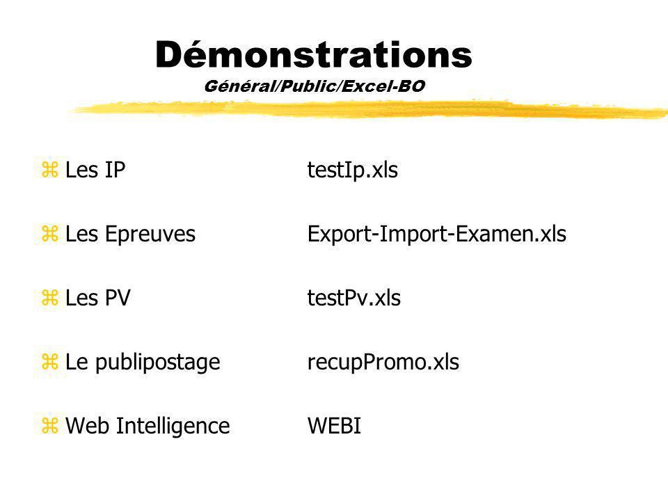 Démonstrations Général/Public/Excel-BO