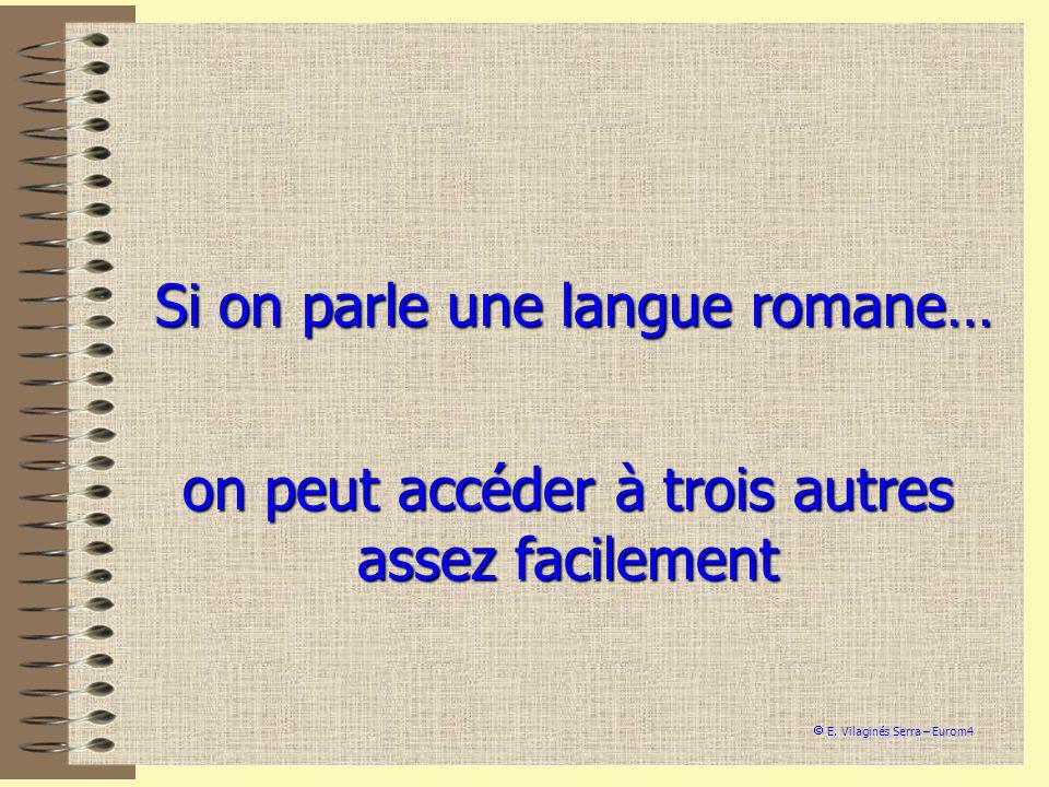 Si on parle une langue romane…