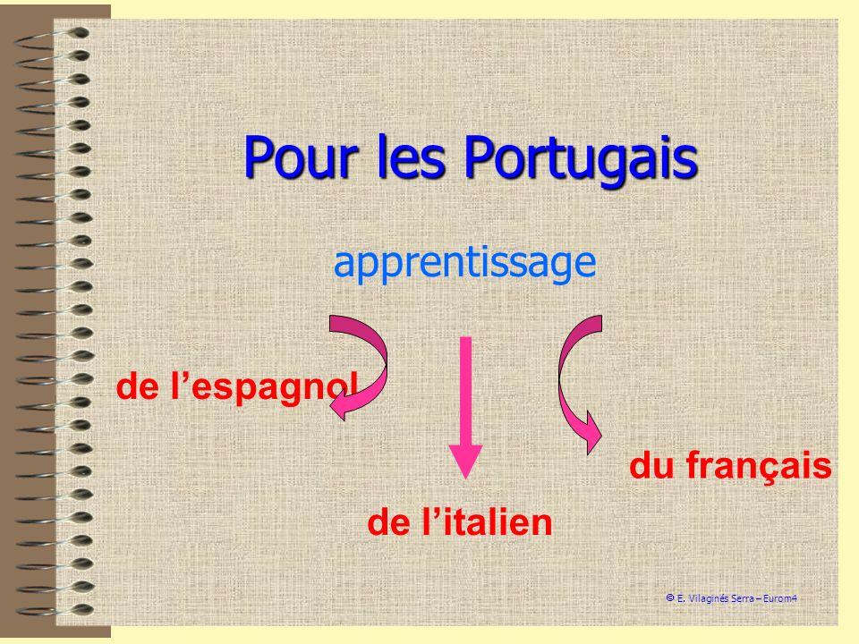 Pour les Portugais apprentissage de l'espagnol du français