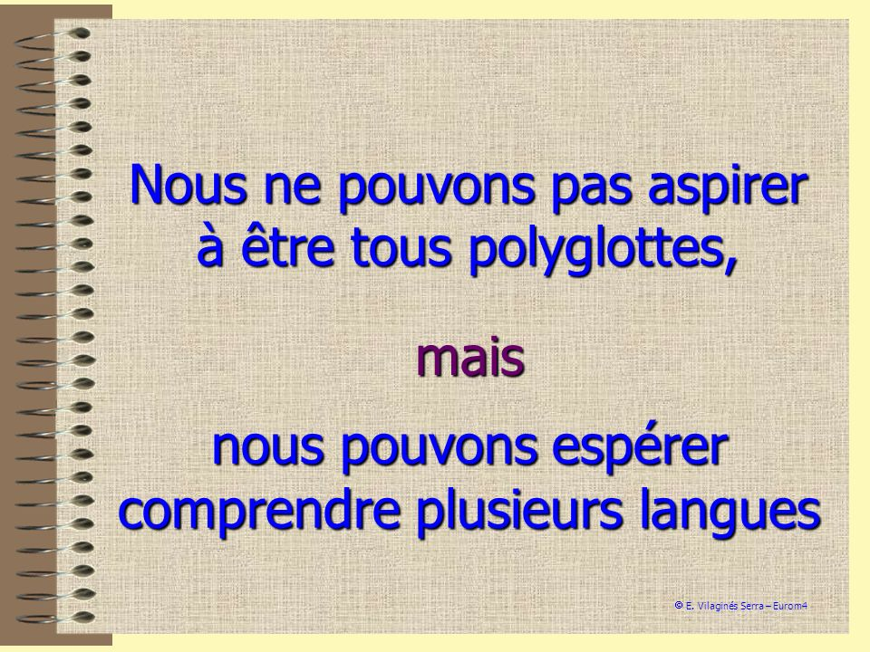 Nous ne pouvons pas aspirer à être tous polyglottes,