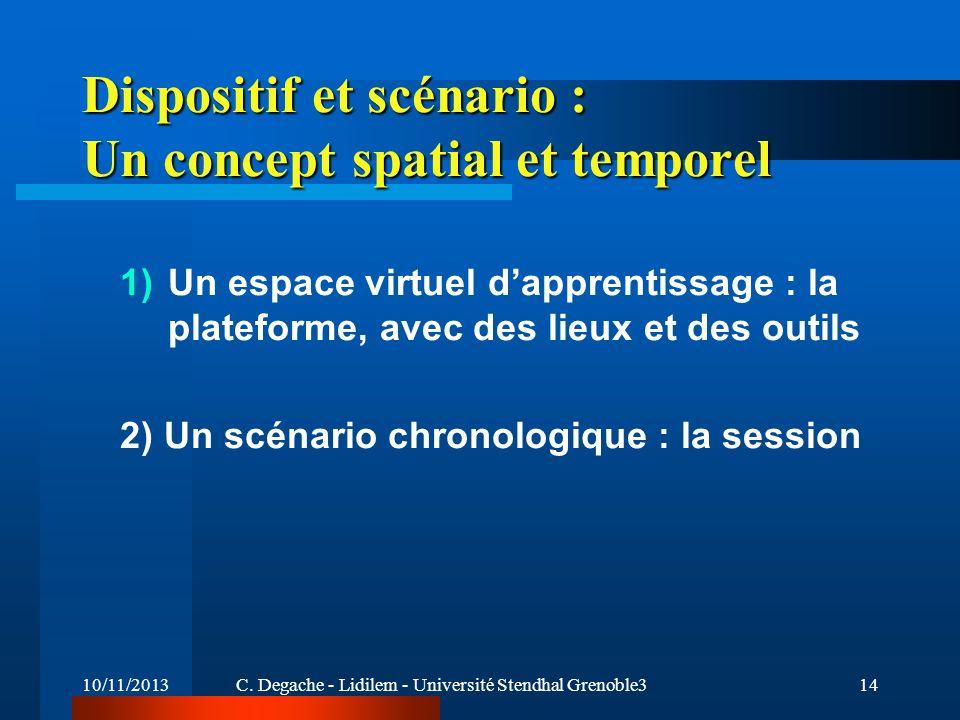 Dispositif et scénario : Un concept spatial et temporel