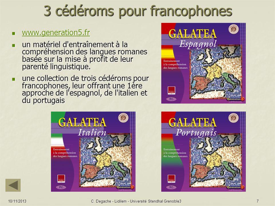 3 cédéroms pour francophones