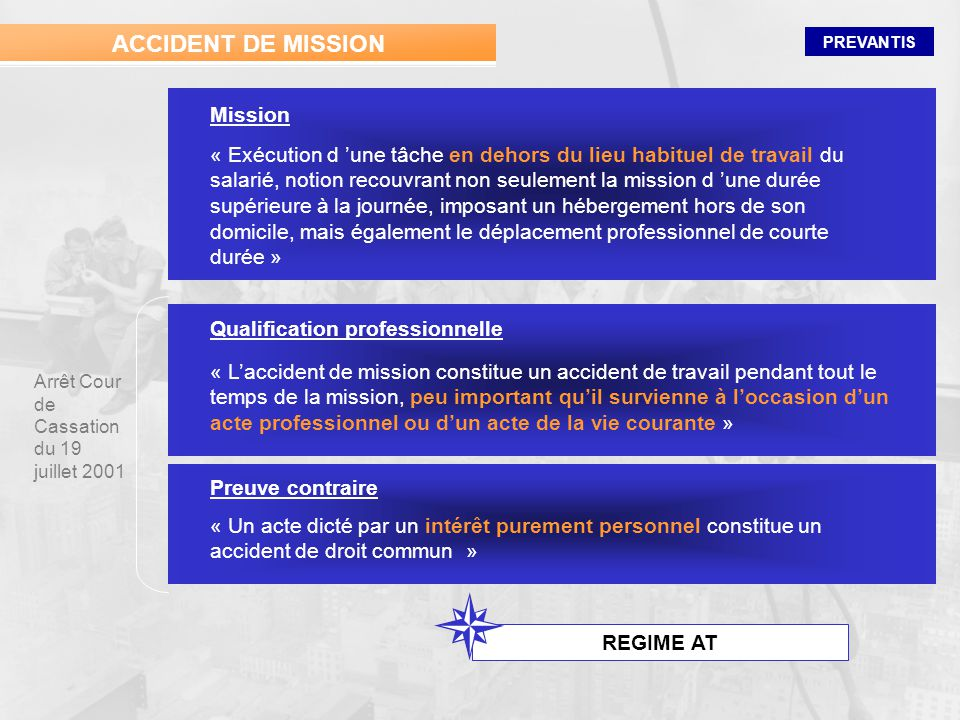 ACCIDENT DE MISSION Mission