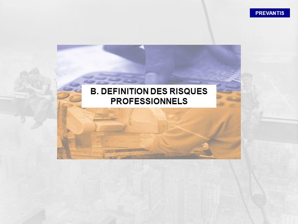 B. DEFINITION DES RISQUES PROFESSIONNELS
